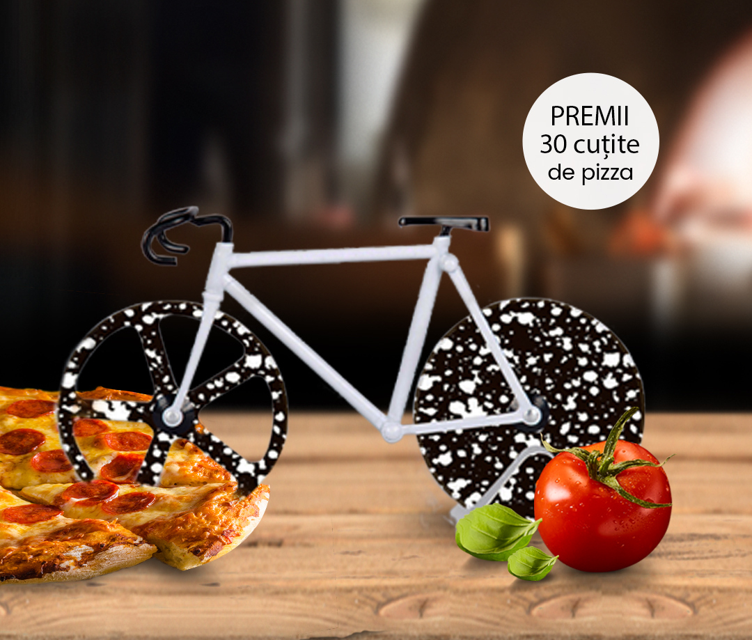 Premii Margherita Challenge - cutie de pizza in forma de bicicleta